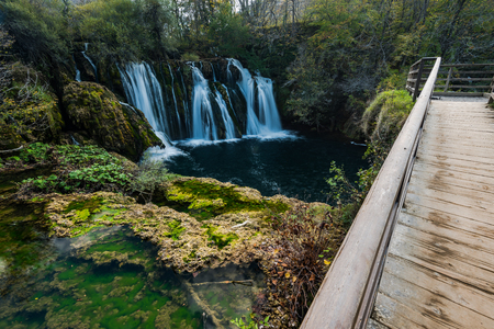 Great Una waterfalls in MArtin Brod, Bosnia and Herzegovina. 写真素材 - 111423841