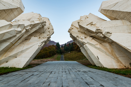 Tjentiste World War II monument,Sutjeska National Park, Bosnia and Herzegovina .