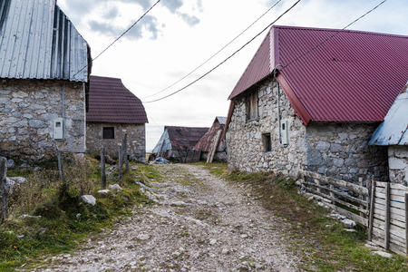 Stone houses in Lukomir, remote village in Bosnia and Herzegovina 写真素材
