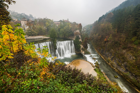 Ancient city of Jajce and waterfall, Bosnia and Herzegovina. Stock Photo - 111423949