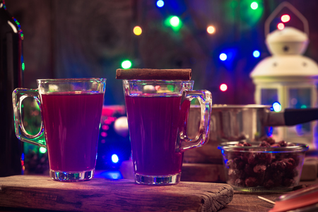 Festive mulled wine, christmas party.