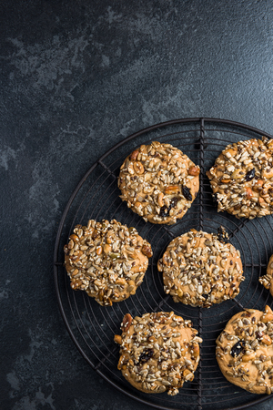 Homemade healthy cookies with seeds and nuts.