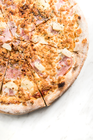 Pineapple and ham italian pizza.