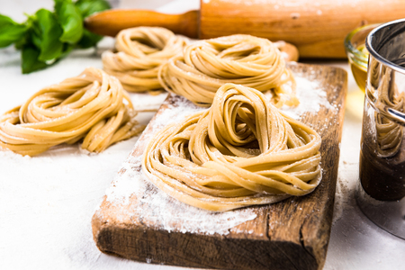 Making healthy italian pasta at home.