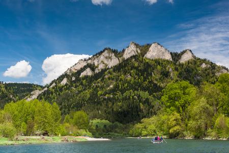 Adventure sports on river Dunajec in Pieniny National Park, Poland.