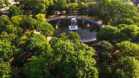 Public Garden and Strzelecki Park in Tarnow, Poland. Stock fotó