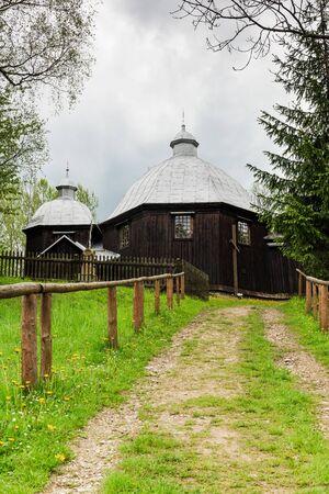 Eastern  Orthodox church in Michniowiec , Carpathian Mountains,Bieszczady,Poland. Фото со стока