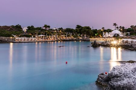 Kallithea Springs after Sunset, Romantic Destination in Rhodes, Greece.