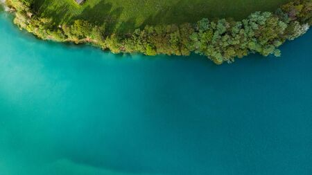 Abstract Pattern in Nature. Eerald Turquoise Water Lake Edge, Slovenia.