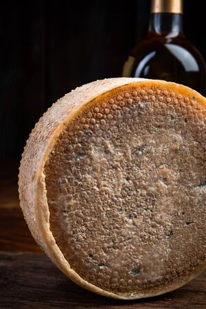 Hard Matured and Aged Cheese Wheel.