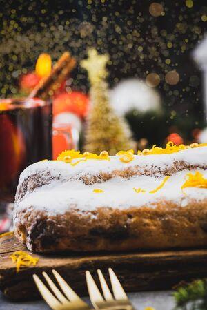 Stolle Christmas Cake. Festive Food and Drink. Reklamní fotografie