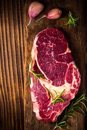 Butcher Beef Steak Cut. Fresh Raw Meat Slice.