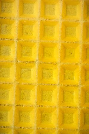 Honey on Waffel. Macro Close Up. Food Texture Background