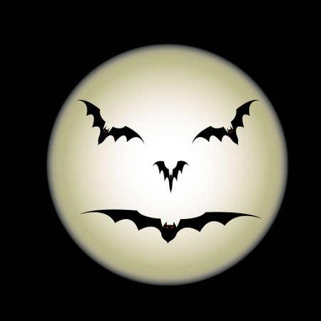 gruselig: Mond Illustration