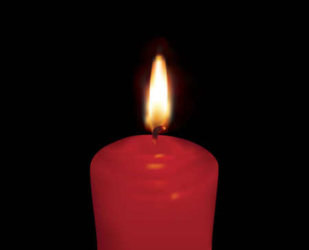 Vectoral burning red candle