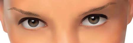 Realistic eyes.