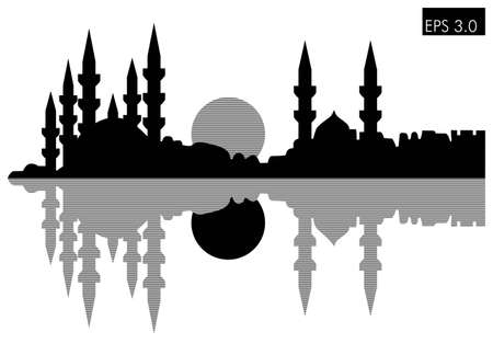 allah: Istanbul silhouette