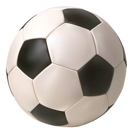 Realistischer Vektor-Fußball. Getrennt im weißen Hintergrund.