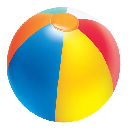 Realistic vector beach ball. Isolated on white background.