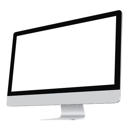 Computer screen. Realistic vector file. Isolated in white background.