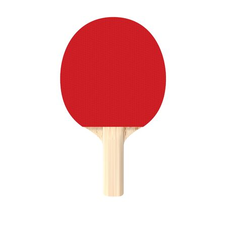 Realistic table tennis racket. Isolated in white background.