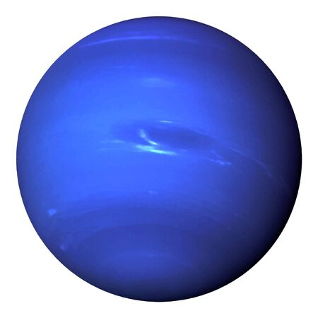 Planet Neptune isolated on white background. Realistic vector.