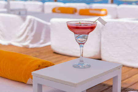 red cocktail ready to drink