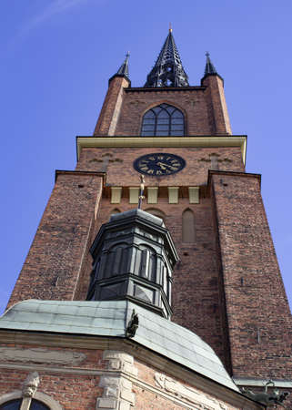 Stockholm, Sweden: Riddarholmskyrkan. July 7th, 2017. The church is located on Riddarholmen