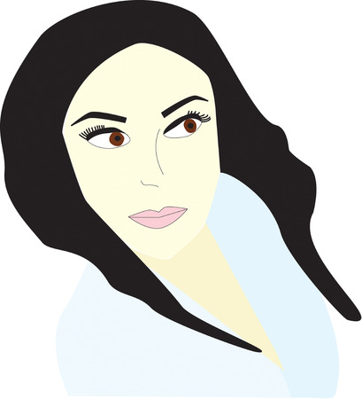 Brunette Ilustrace
