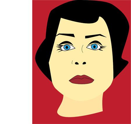 An Illustrated portrait of a woman  Ilustração