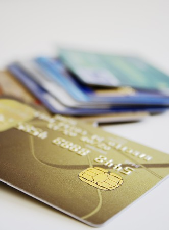 electronic card: Credit card security chip.