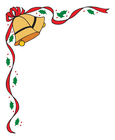 church bell: Christmas bells. Vector illustration available Illustration