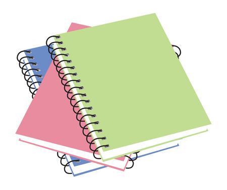 Three notebooks. vector illustration available