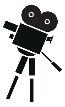 capturing: Professional camera. Vector illustration available