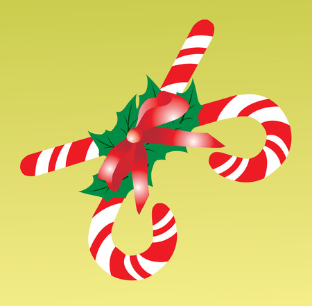 Candy cane. Vector illustration available Stock Vector - 1637965