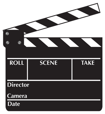 flick: Open Clapboard. Vector illustration available