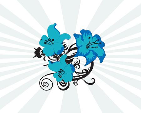 Floral design elements. Vector illustration Illustration