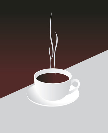 Cup of coffee. Vector illustration