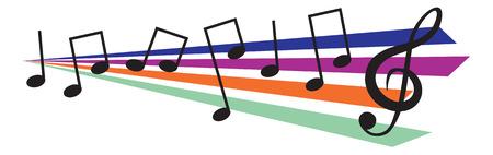 Music design elements. Vector illustration