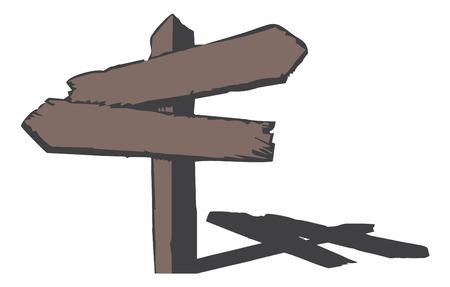 pancarte bois: Wood signe. Illustration vectorielle