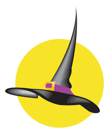Witch hat. Vector illustration available Illustration