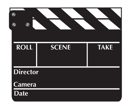 Closed clapboard. Vector illustration available Illustration