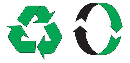 tornitura: Riciclaggio simboli. Illustrazione vettoriale disponibili  Vettoriali