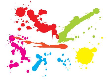 Paint splat backgorund. Vector illustration Illustration