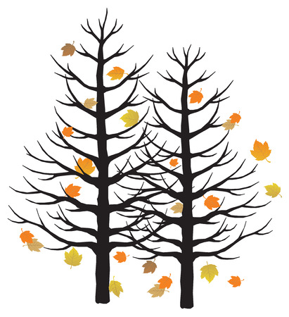 Autumn tree. Vector illustration available Illustration