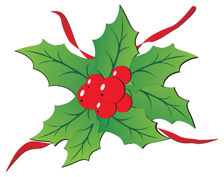Christmas holly isolated on white background Stock Vector - 2022084