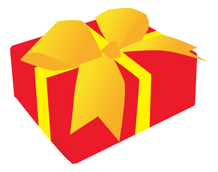 Christmas gift box isolated on a white background Stock Vector - 2022083