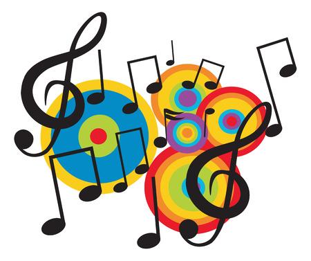 Music design theme. Vector illustration