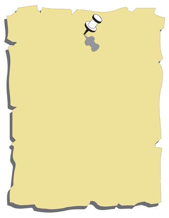 memory board: Nota de papel amarillo con negro pushpin