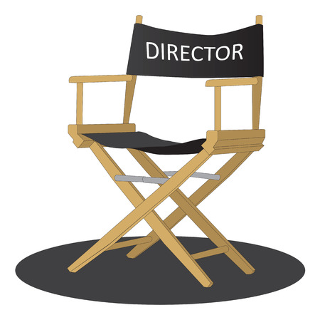 Directors chair over white background